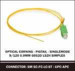 corning pigtail singlemode 9/125 0,9mm G652d simplex