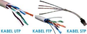 gambar 5 kabel utp, ftp, dan stp